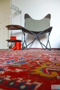 Wohnzimmer mit Orientteppich - annablogie