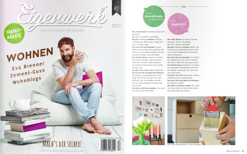 annablogie im Eigenwerk- Magazin Juni 2015