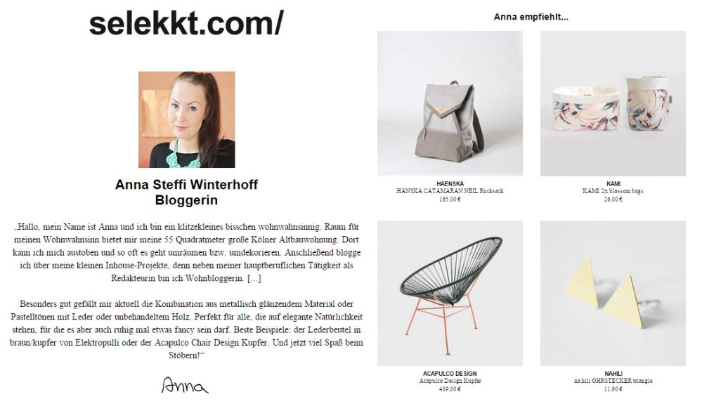 Meine Designlieblinge bei selekkt.com 2015