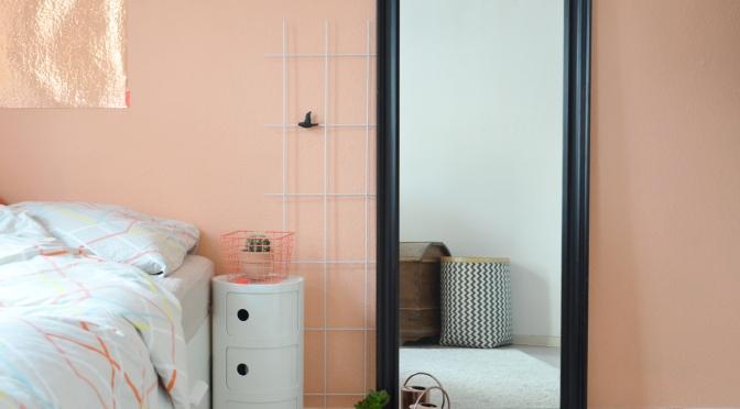 schlafzimmer in apricot annablogie - Wandfarbe Schlafzimmer