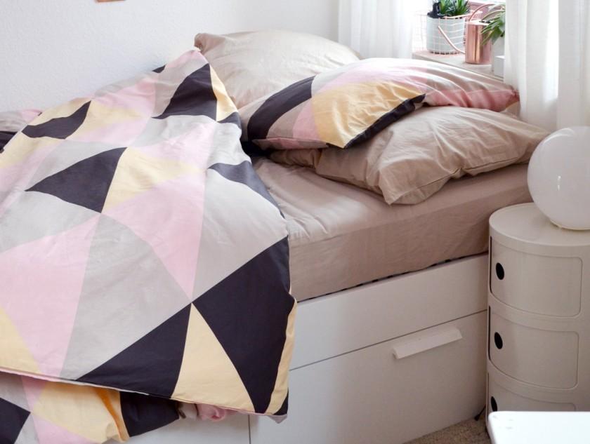 Bett Brimnes und Bettwäsche Klipplin - annablogie