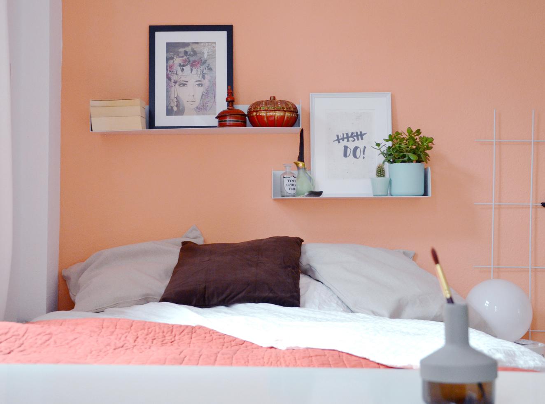 Schlafzimmer in apricot annablogie - Streich ideen schlafzimmer ...