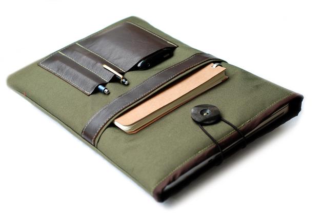 Segeltuch Notebooktasche von Chiquita Jo