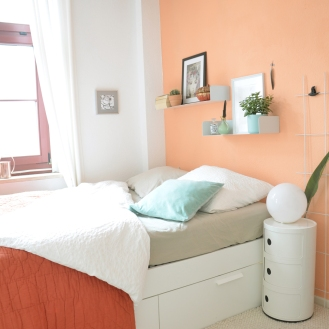 Apricot als Wandfarbe