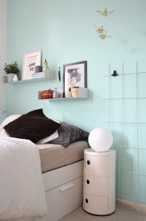 Schlafzimmer-Umstyling in Mint
