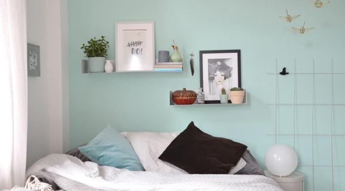 Umstyling neue farbe im schlafzimmer annablogie - Welche farbe schlafzimmer ...