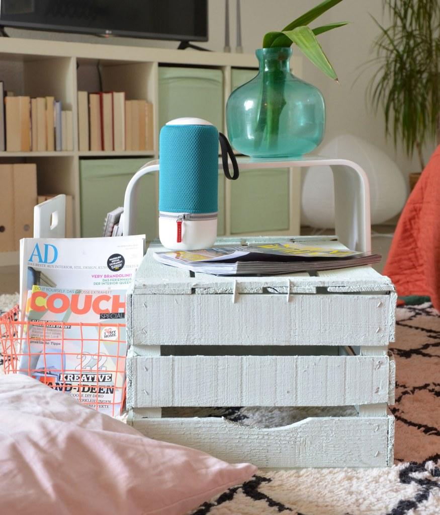 Libratone Wireless Lautsprecher im Wohnzimmer - annablogie