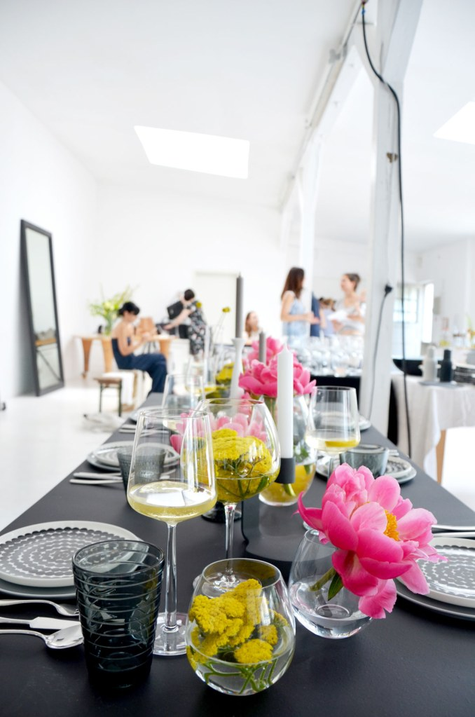 Tischdekoration beim Schoener Wohnen-Workshop-annablogie