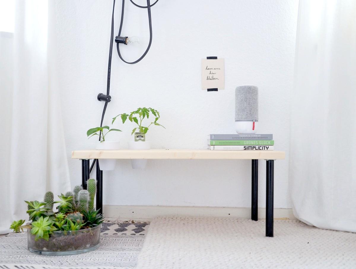 DIY: Pflanzenbank für drinnen & draußen