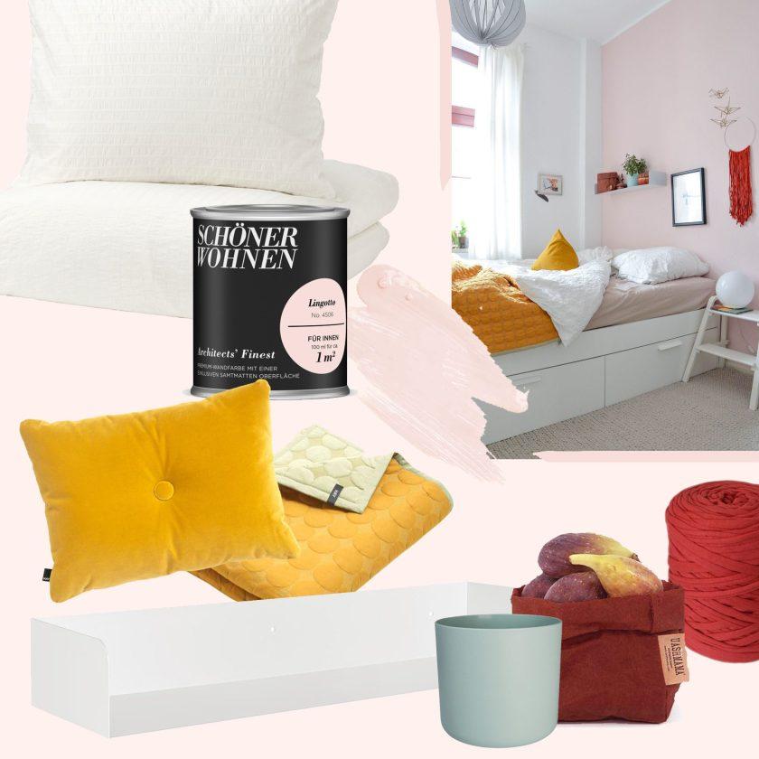 Wandfarben: Sommerliches Schlafzimmer