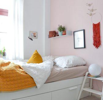 Sommerfarben im Schlafzimmer