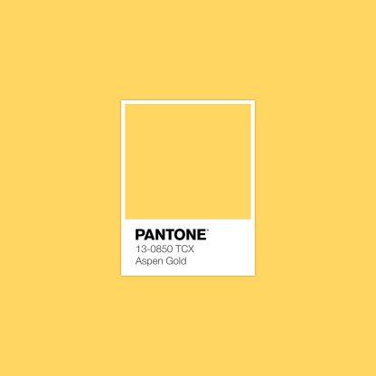 Trendfarbe 2019: Aspen Gold von Pantone
