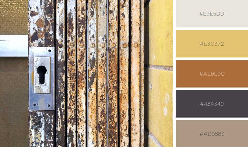 Farbpalette: Rost, Gelb und Taupe für einen sonnigen Spätsommer