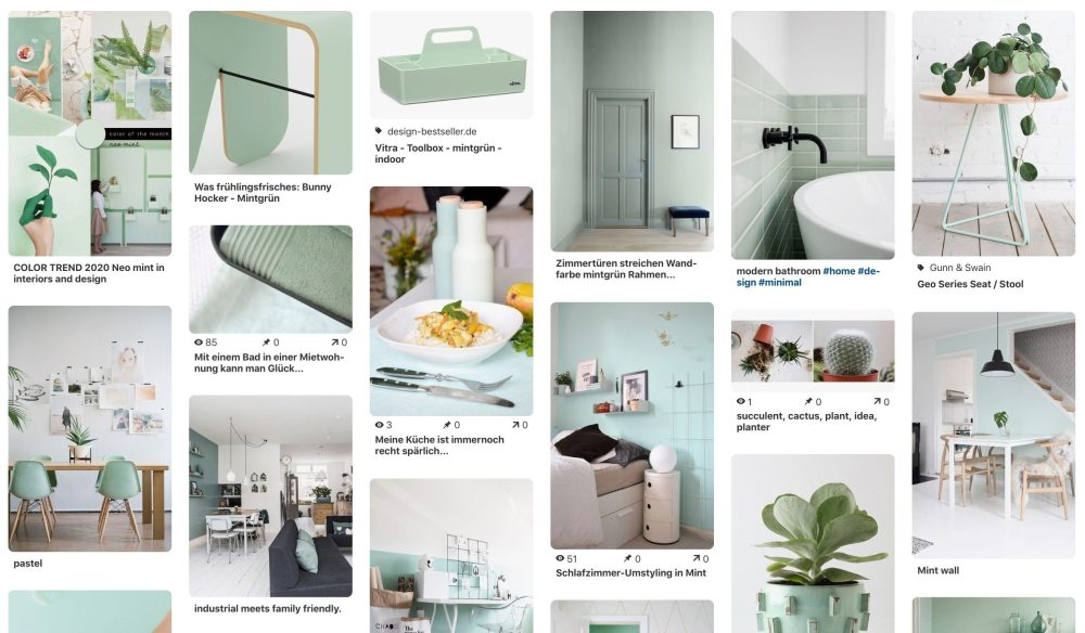 Pinterest-Board: NEO Mint - Trendfarbe 2020
